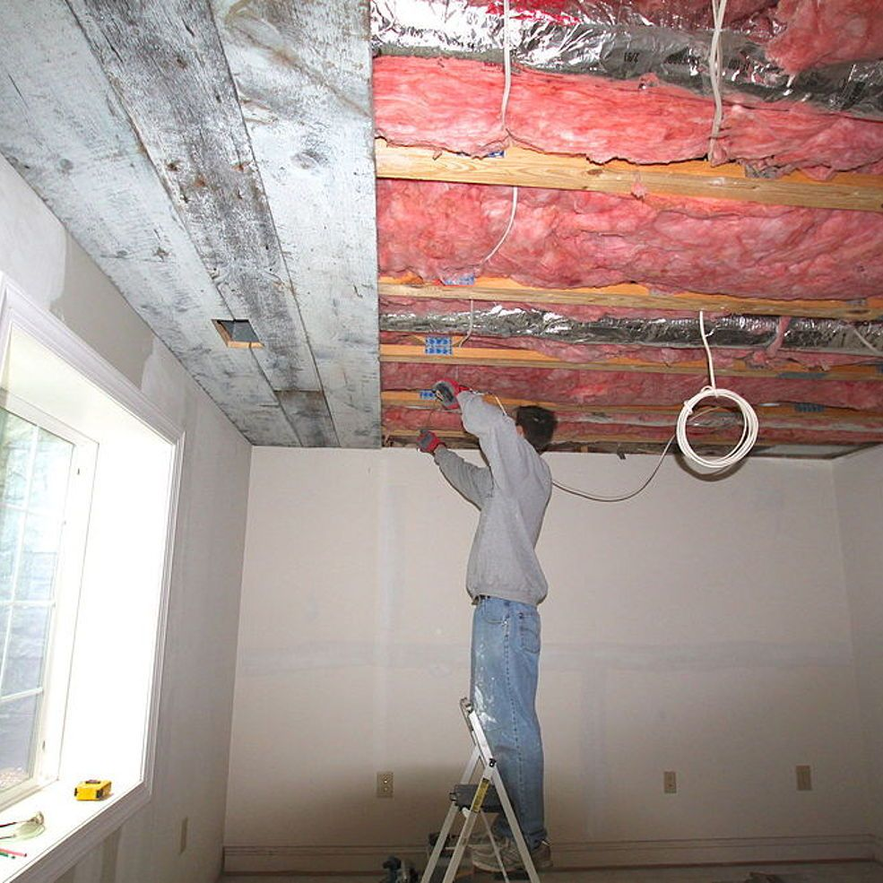 How to Install a Barn Board Ceiling! | Diy ceiling ...