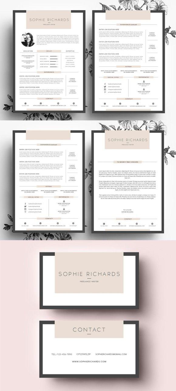 Resume Template / Business Card Resume Templates Pinterest