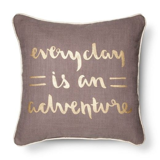 Gold Life Is An Adventure Throw Pillow Room Essentials™ Target Simple Storehouse Brand Decorative Pillows