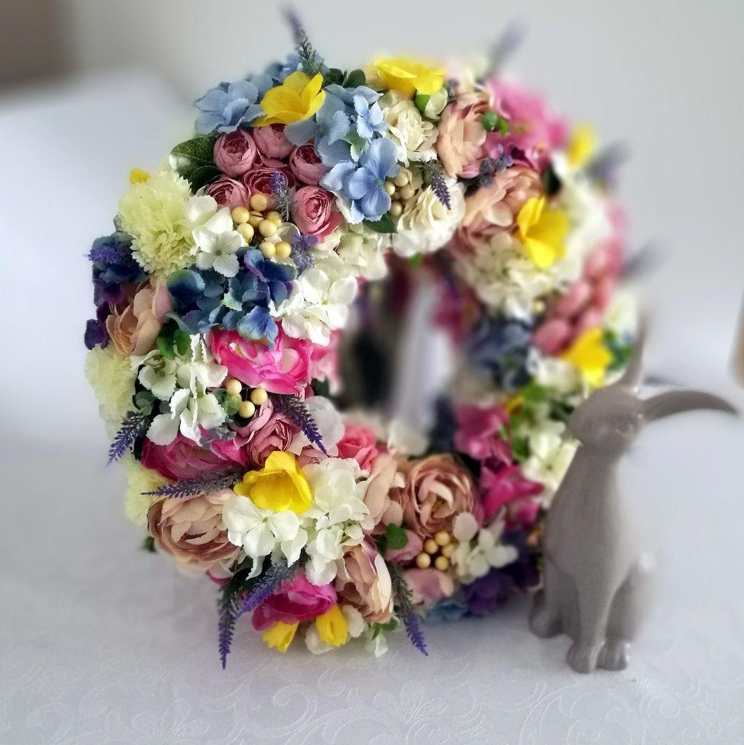 Wianek Z Kolorowej Hortensji Nr 73 Swiateczne Atelier Flowers Floral Floral Wreath