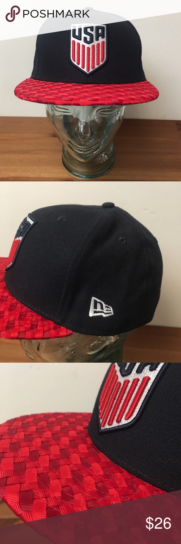 Usa Soccer Fitted Hat Cap World Cup 7 1 4 Outlaws Represent The Awesomeness Of Usa Soccer Excellent Condition Nice Textured Bill Fitted Hats Usa Soccer New Era