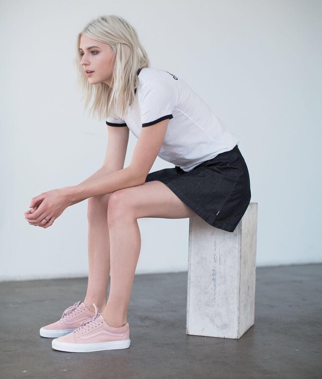 51278a6f2cfac8 Pastel Perfection  The Suede Woven Old Skool in Peachskin. Shop online or  find a store at vans.com  vansgirls