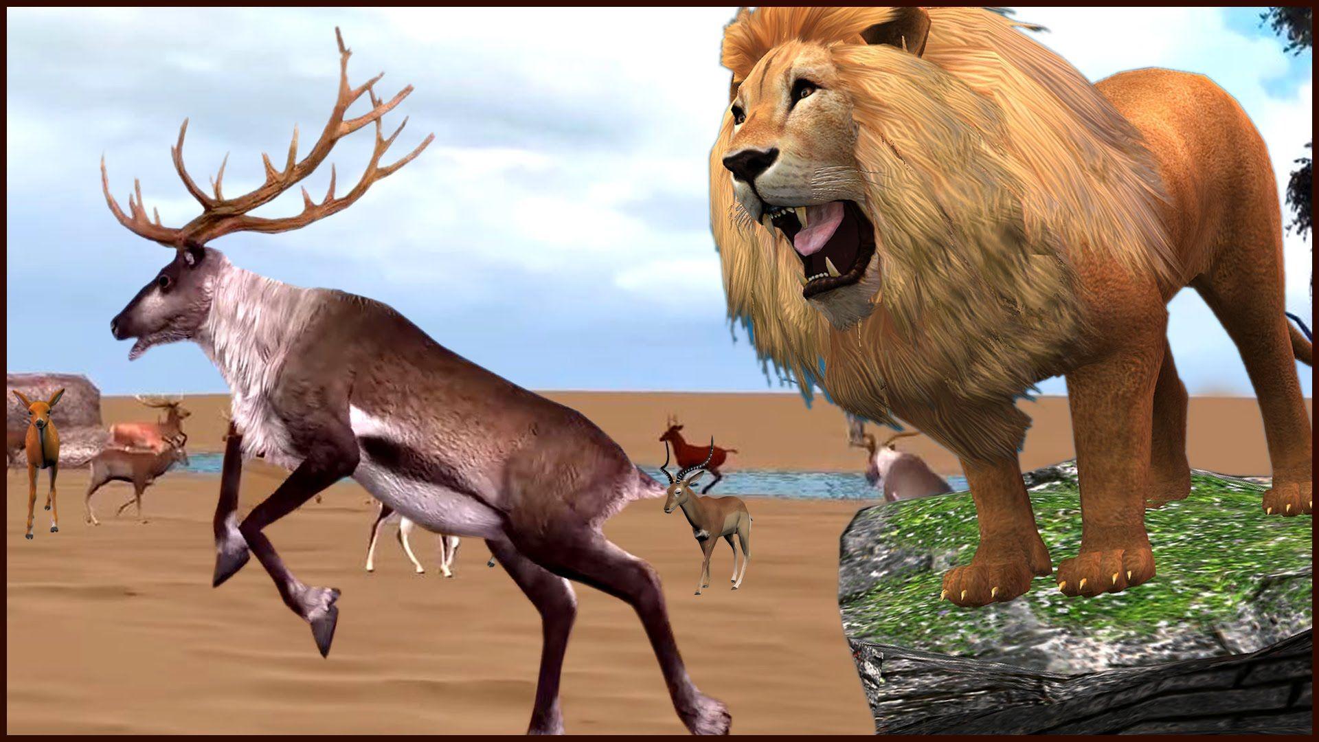 Amazing Lion Vs Deer Wild Animal Cartoon Videos Lion