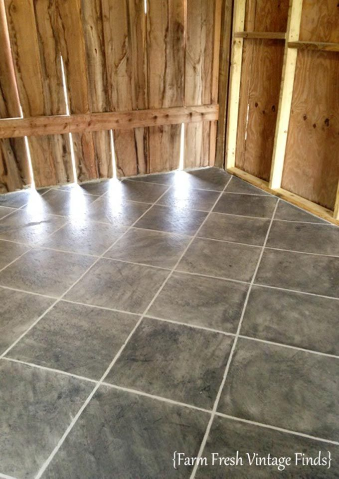 Stained Concrete Bat Flooring And Other Quick Finishing Ideas