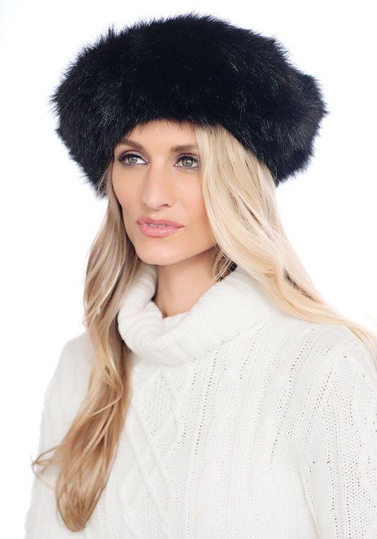 Black Fox Faux Fur Tam Style Hat fabulousfurs.com  fabulousfurs ... 9a81b94a965c