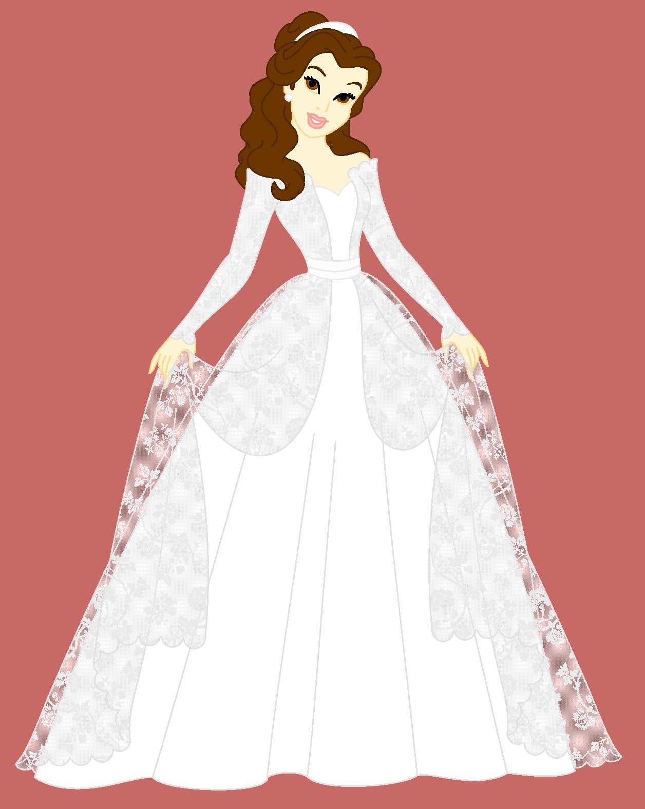 Disney Brides Belle By Milafrancine On Deviantart Disney Bride Disney Princess Wedding Disney Dresses [ 1576 x 1256 Pixel ]