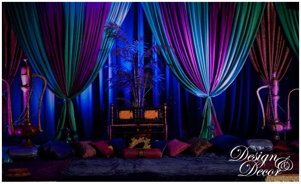 Mehndi Backdrop Diy : Arabian nights theme mehndi sangeet party decor done