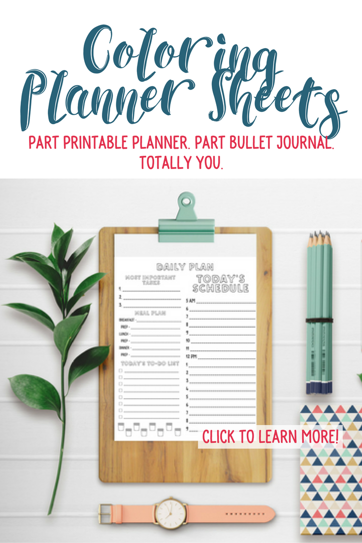 Creative Officewear Made Totally By Office Supply: Coloring Planner Sheets Collection