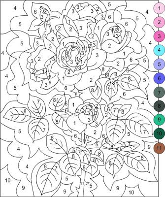 Nicoles Free Coloring Pages Color By Number ぬりえ Pintar Por