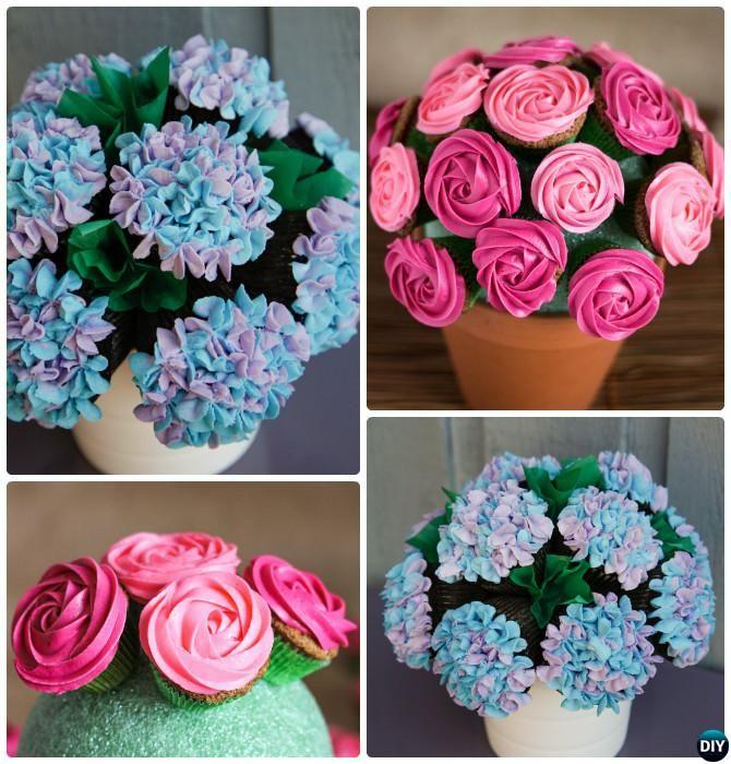 Cupcake Pull Apart Cake Flower Pot