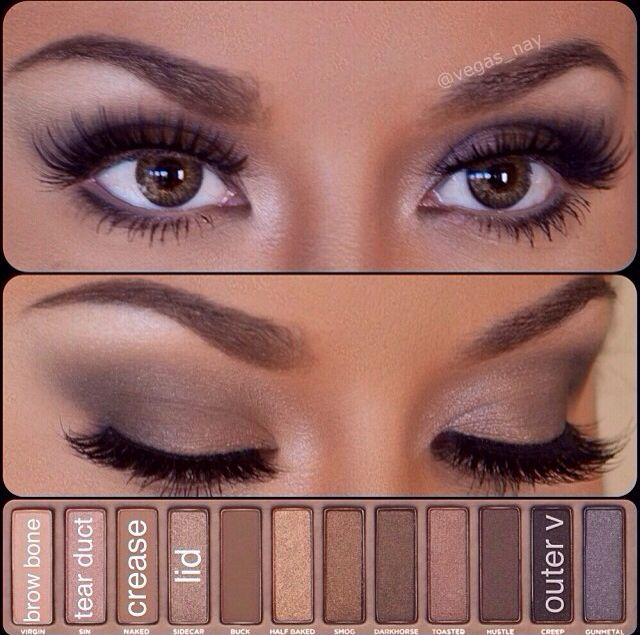 Populaire How to do Cute Eye Makeup for Brown Eyes | Eye shadow tutorial  UI52