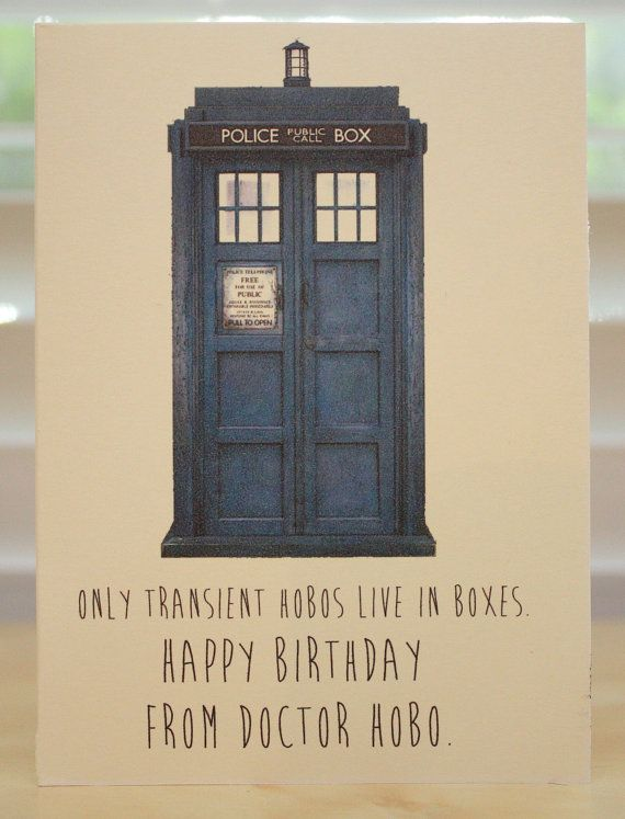 Doctor Who Birthday Card Tardis Dr Who Geeky Party Awesome