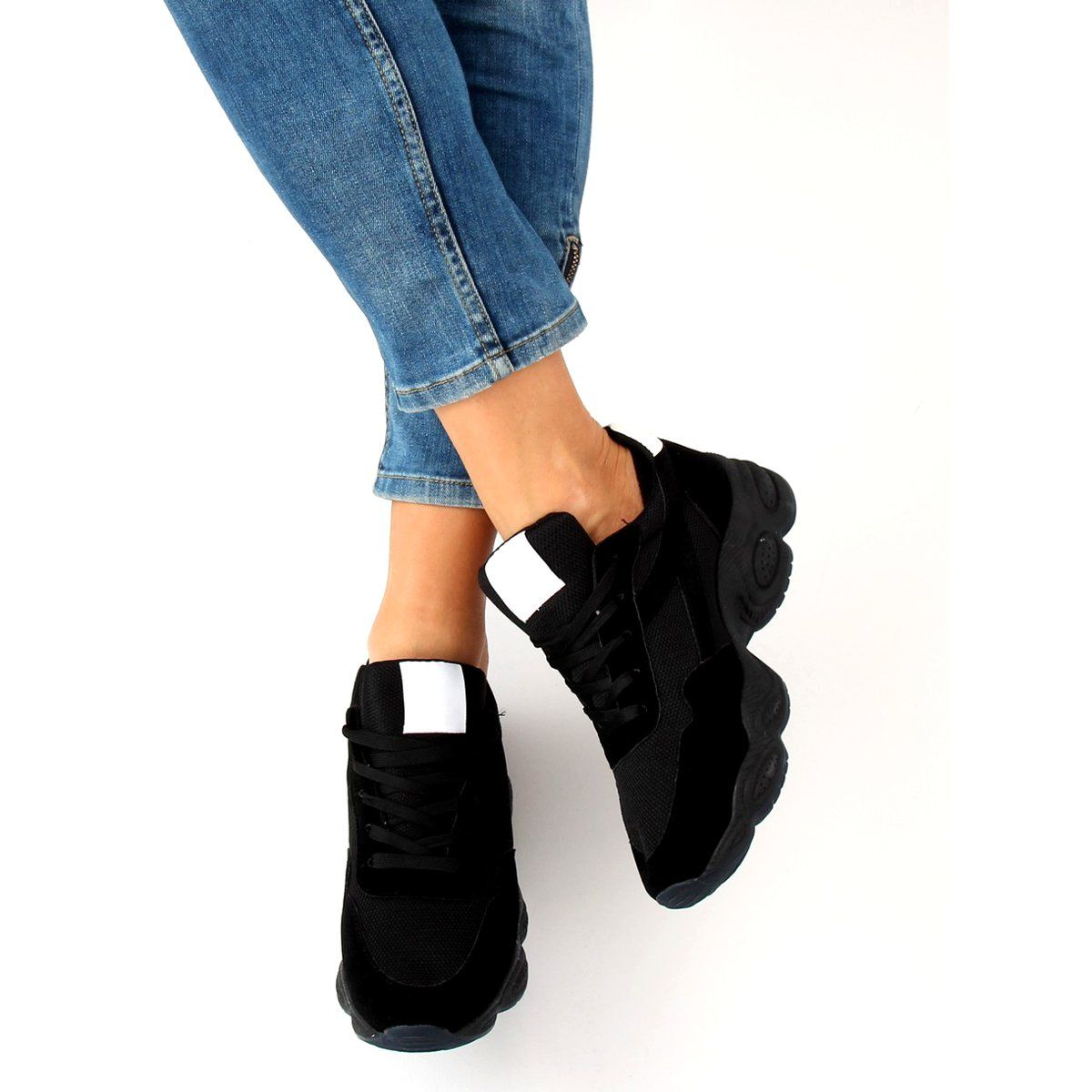 Buty Sportowe Czarne E 102 Black