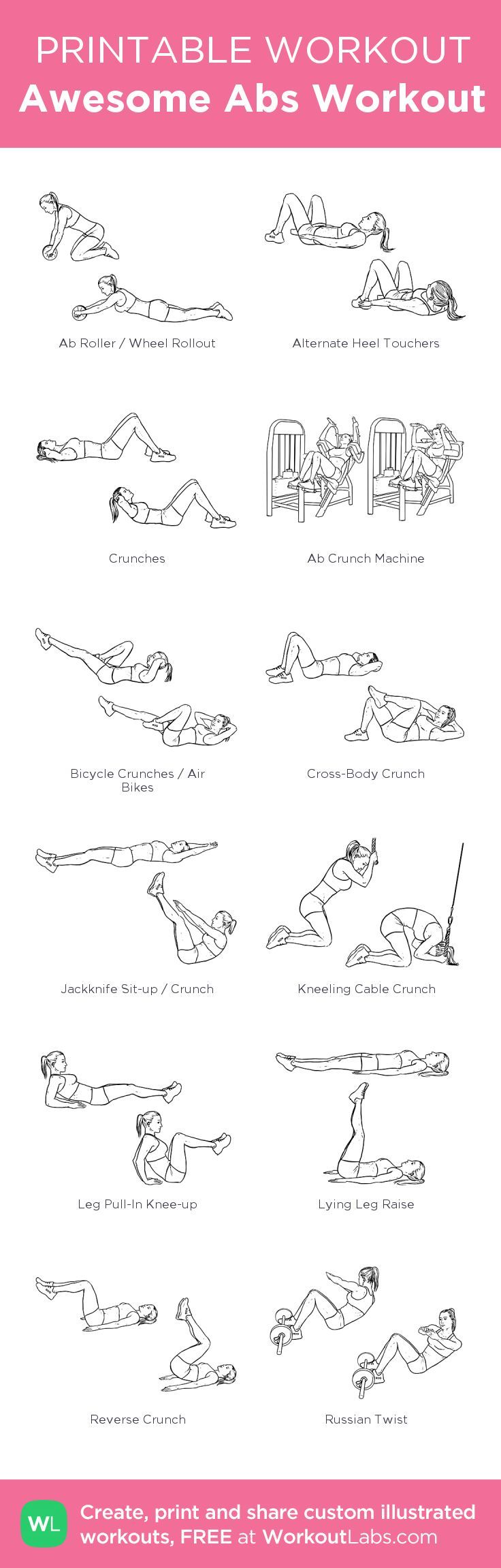 It's just a photo of Dynamic Printable Ab Workouts