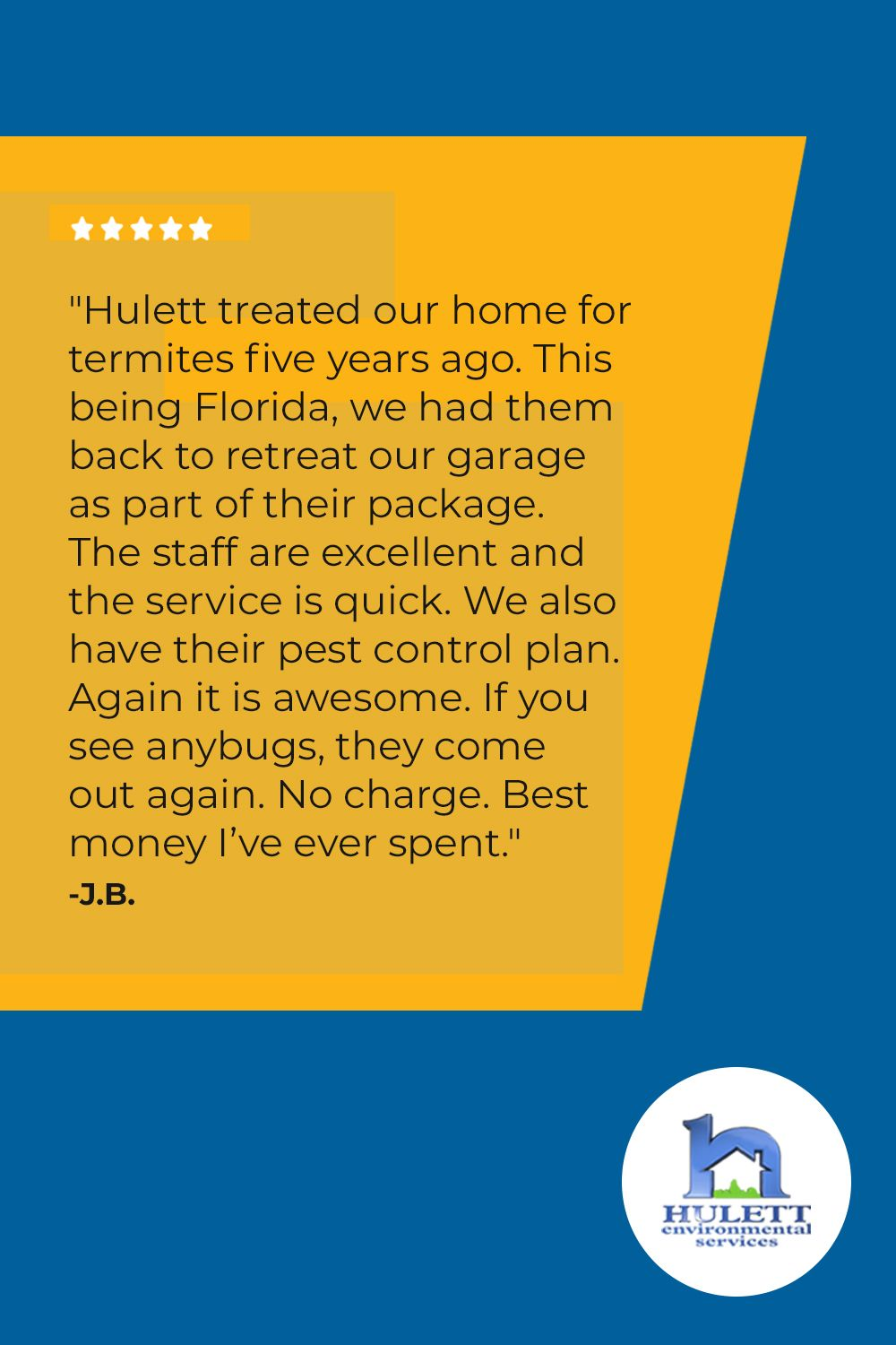 Hulett customer review pest control how to plan pests