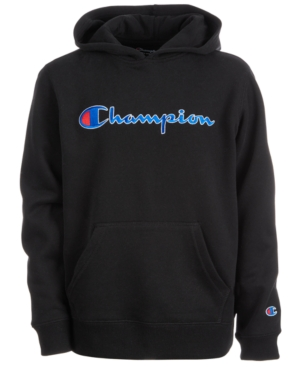 b1bbcc92f05 Champion Big Boys Heritage Logo Hoodie - Black XL (18 20)