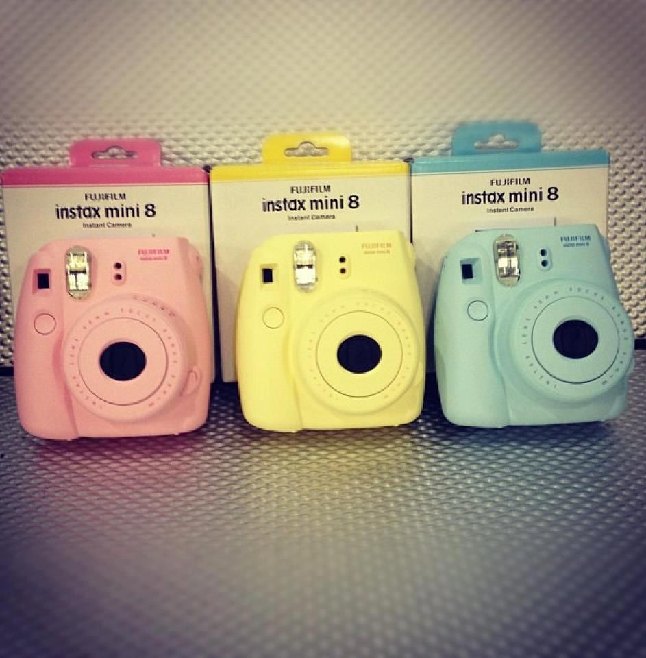 DO YOU GUYS LIKE THE BLUE OR YELLOW I Might Get One Fujifilm Instax Mini Boutique Im Becoming Obsessed With Cameras Now For Some
