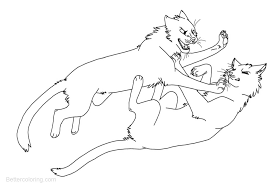 image result for free printable warrior cats coloring