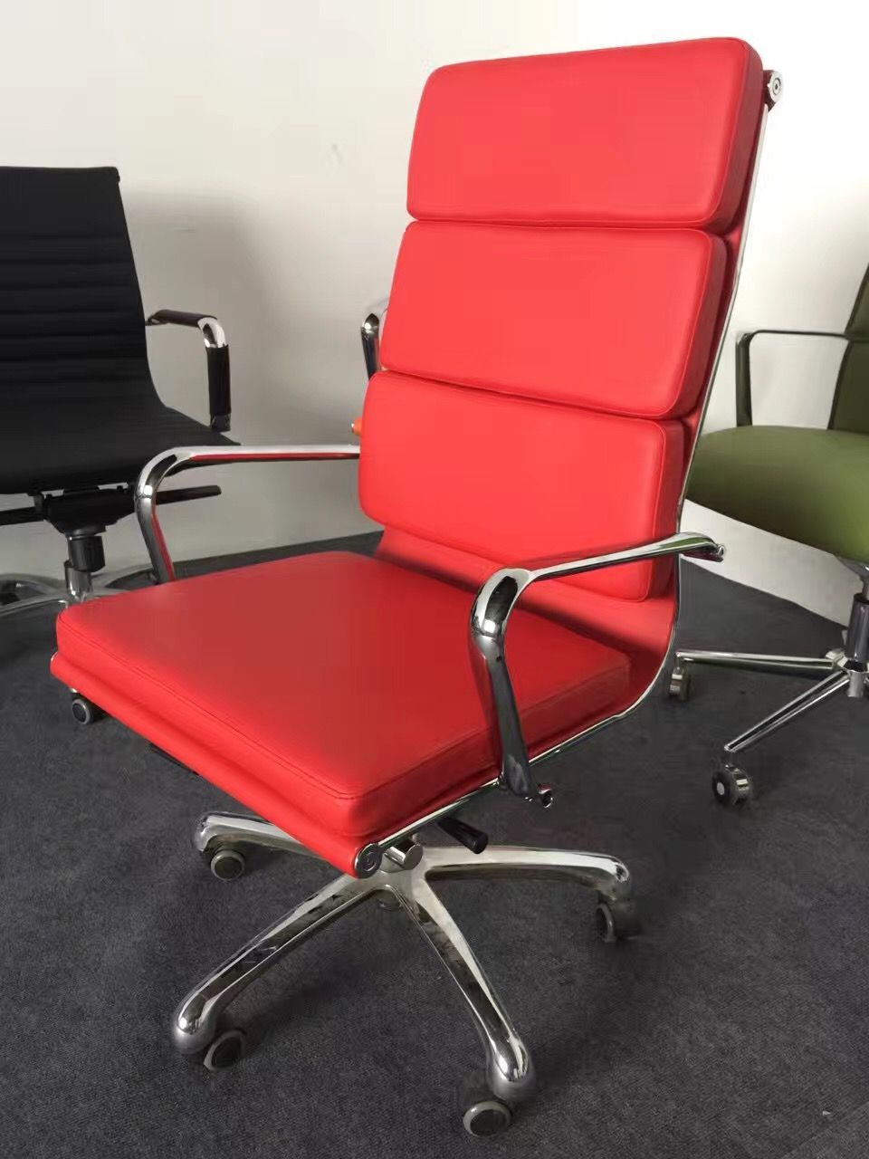 Modern Red Eames Office Chair Reclining Red Office Chair Ergonomic Red Eames Mesh Chair Office Chair Cheap Office Chairs Eames Office Chair