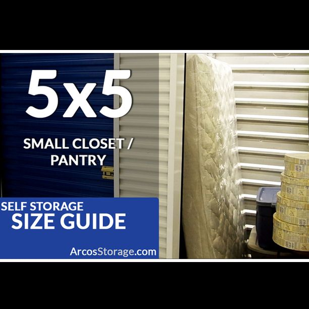 Size Guide 5x5 Storage Unit Is Equivalent To A Small Walk In Closet Self Storage Storage