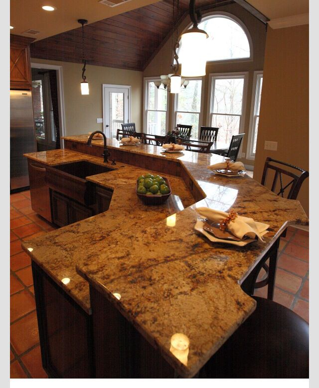 Large Kitchen Islands With Granite Top Table And Counter Height Island