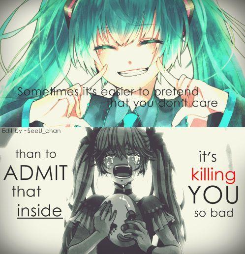 Fake Smile Sad Anime Girl