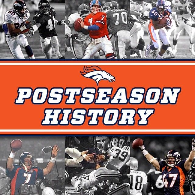 SnapWidget | Go inside the numbers of the #Broncos' postseason history. View the full infographic at DenverBroncos.com.