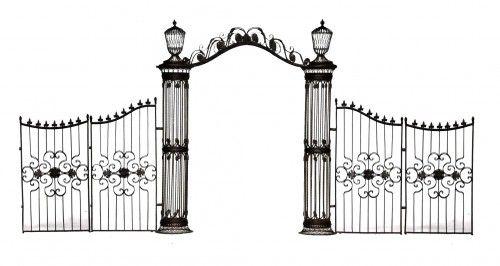 Demeure et jardin pilier de portail demeure et jardin for Dessin portail fer forge