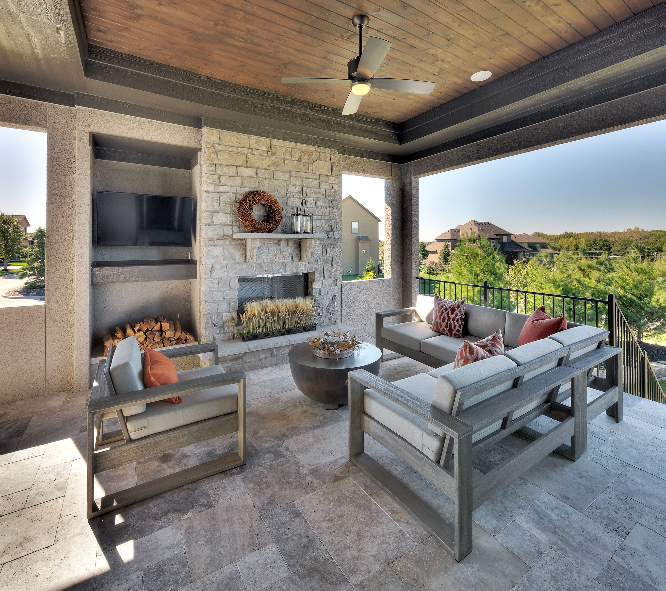 Covered Lanai, Outdoor Living, Outdoor Fireplace, Patio