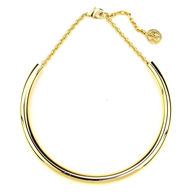Gold Thin Collar Necklace