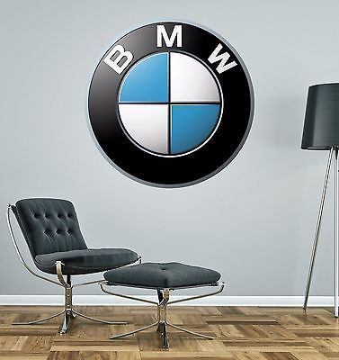 BMW BADGE Wall Decal Decor Bedroom Garage Big Wall Car Logo Sticker Decal is part of Big bedroom Garage -