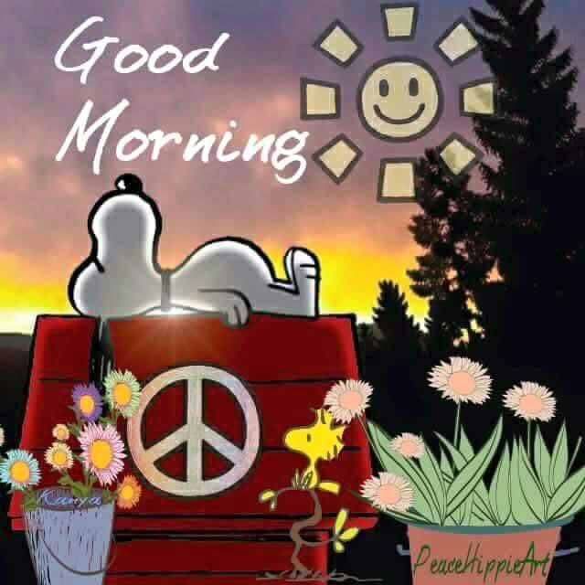 Good Morning Hippie Snoopy Quote Pictures, Photos, and