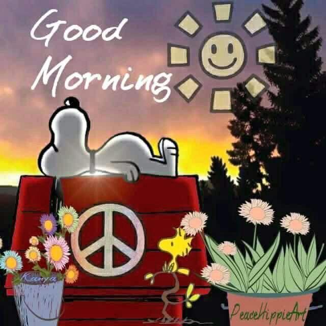 ☮ American Hippie ☮ Snoopy .. Good Morning