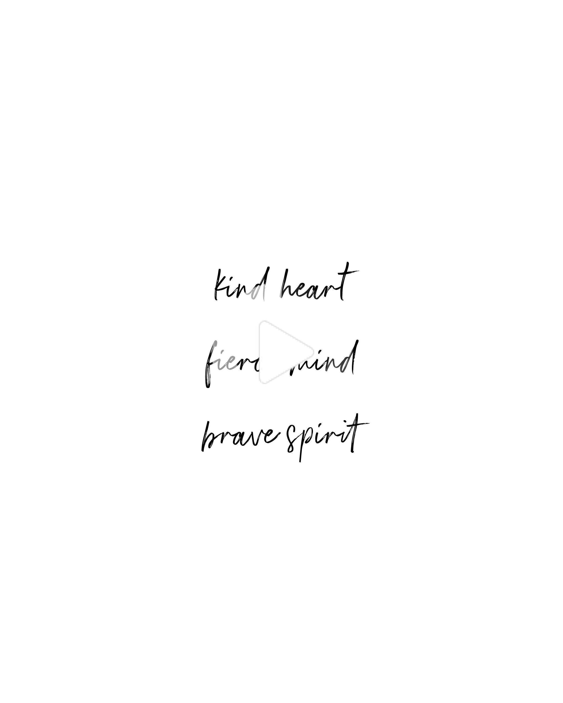 Printable Boho Quote   Kind Heart, Fierce Mind, Brave Spirit ...