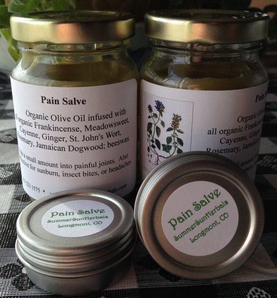 Pain Salve for joint pain, sunburn, bug bites, headaches or any inflammation.