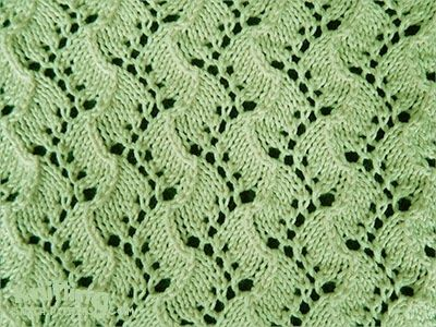 Traveling Vine - knitting in the round | Lace knitting ...
