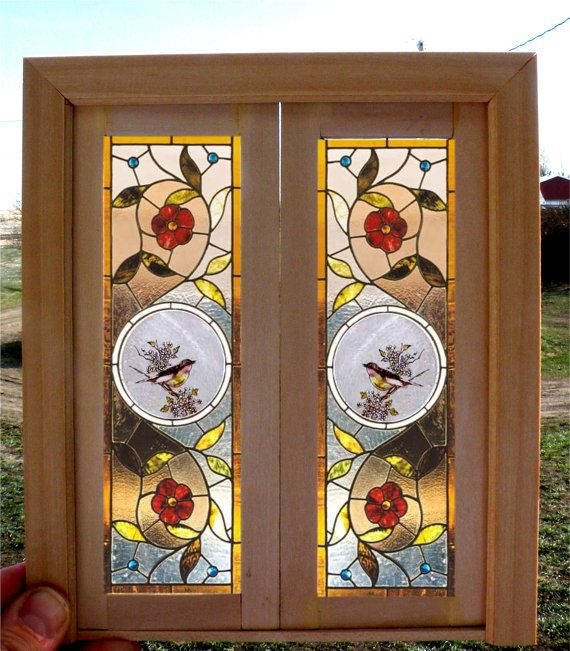 Handmade Dollhouse Miniature Stained Glass Window Custom size available