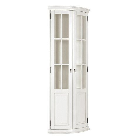 Chilton Curved Corner Cabinet Home Improvement Glass Shelves Curved Glass Und White Corner Cabinet