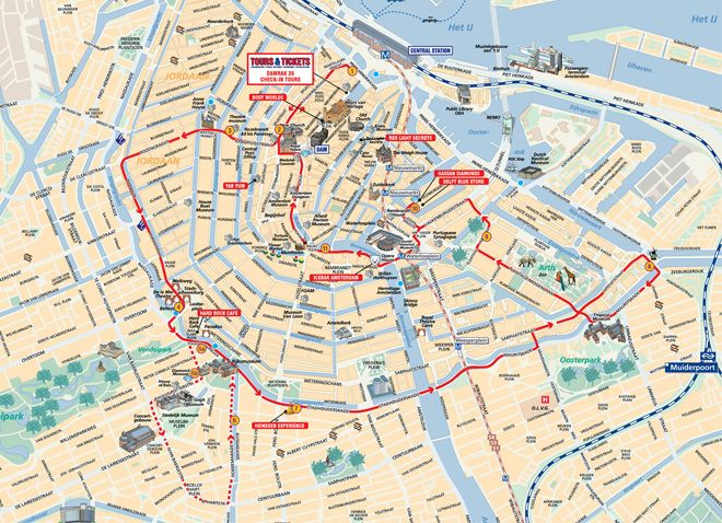 Hop On Hop Off Bus City Sightseeing Amsterdam Route