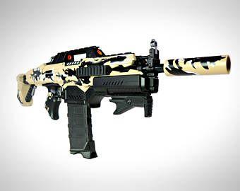 Custom Evo Scorpion Build Foam Dart Blaster (Desert Camouflage)