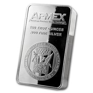 100 Oz Silver Bar Apmex Struck Silver Bars Silver Bullion Eagle Design