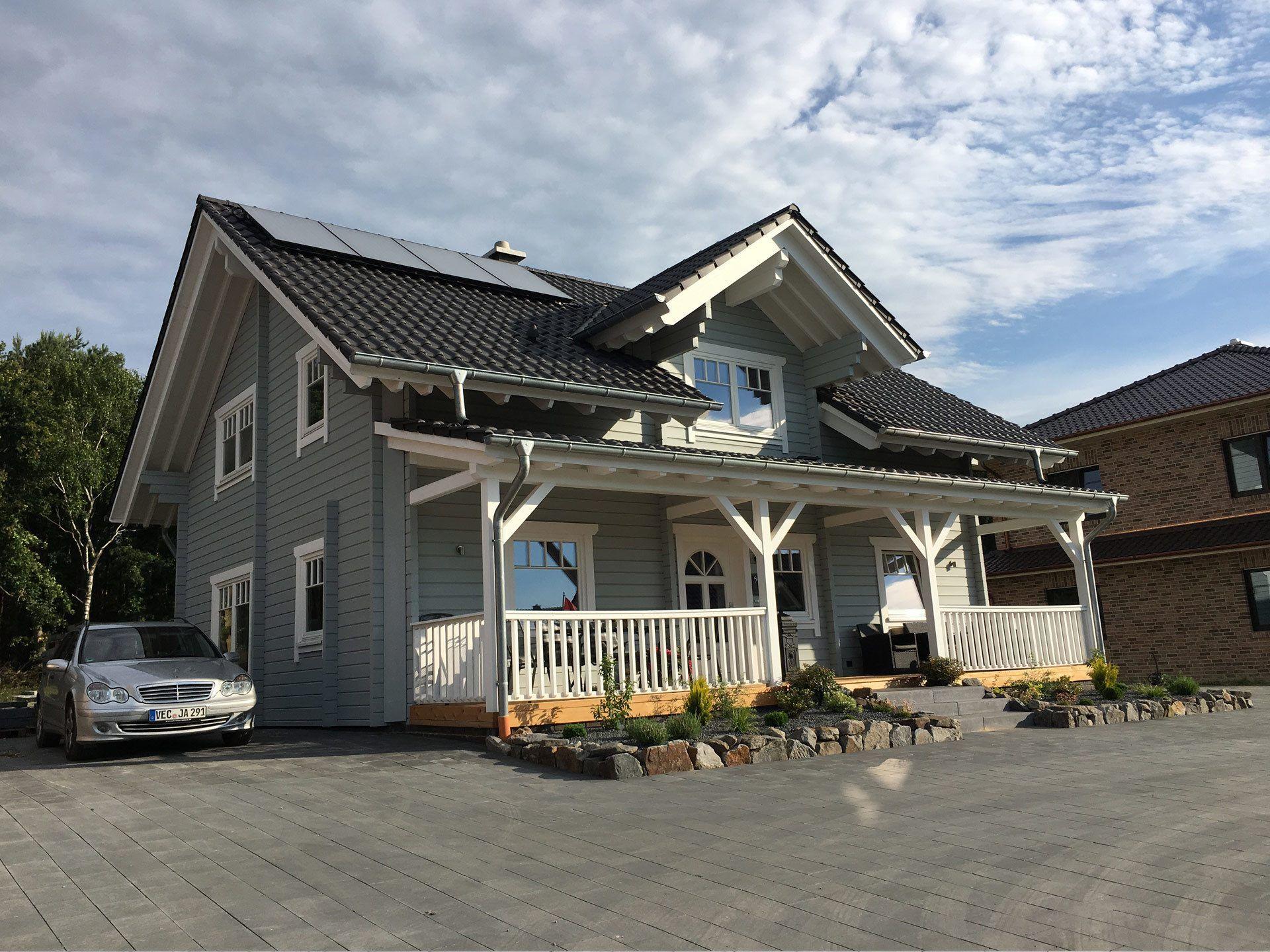 musterhaus langenberg einfamilienhaus im american style mit 160 m wohnflche holzhaus amerikanisch nordic - Deckideen Fr Modulare Huser