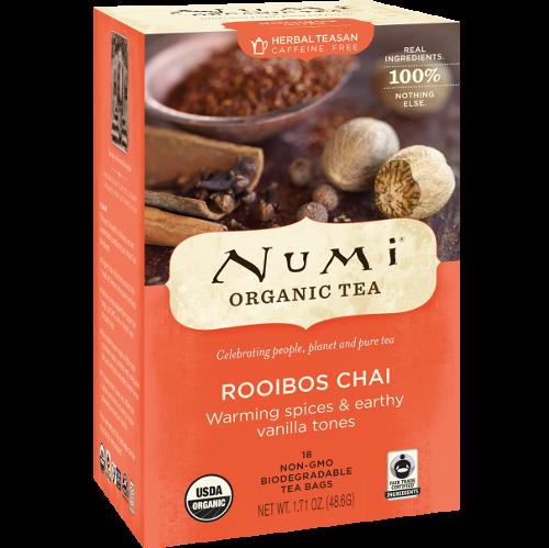 Urtete Rooibos Chai Koffeinfri Numi Te Naturalis No Krydder Supermat Muskat