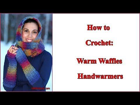 Crochet Tutorial: Warm Waffles Handwarmers - YouTube | Youtube ...