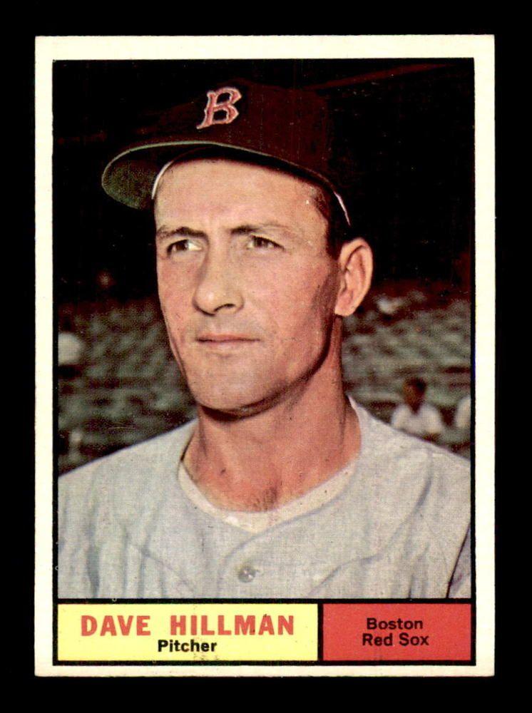 1961 Topps 326 Dave Hillman NM/NM+ X1364214 BostonRedSox