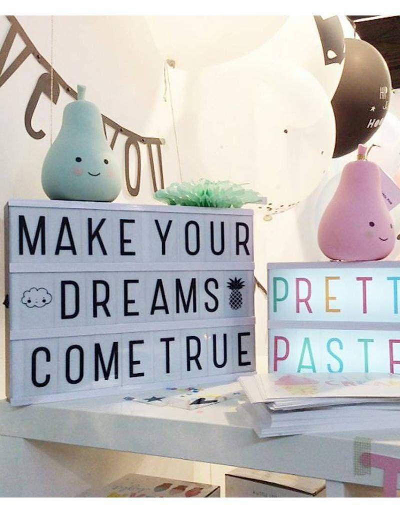 little lovely lightbox and pastel letter set