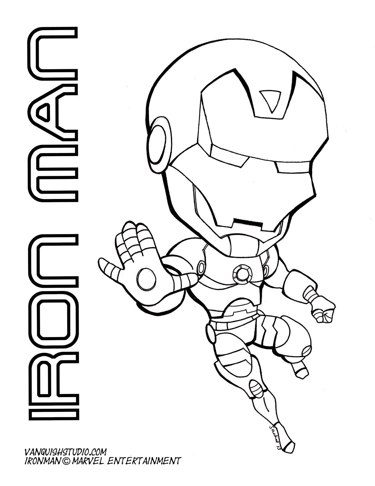 Ironman Chibi Fusion Drawing Combines Japanese Style With American Influence Superhero Coloring Pages Superhero Coloring Coloring Pages