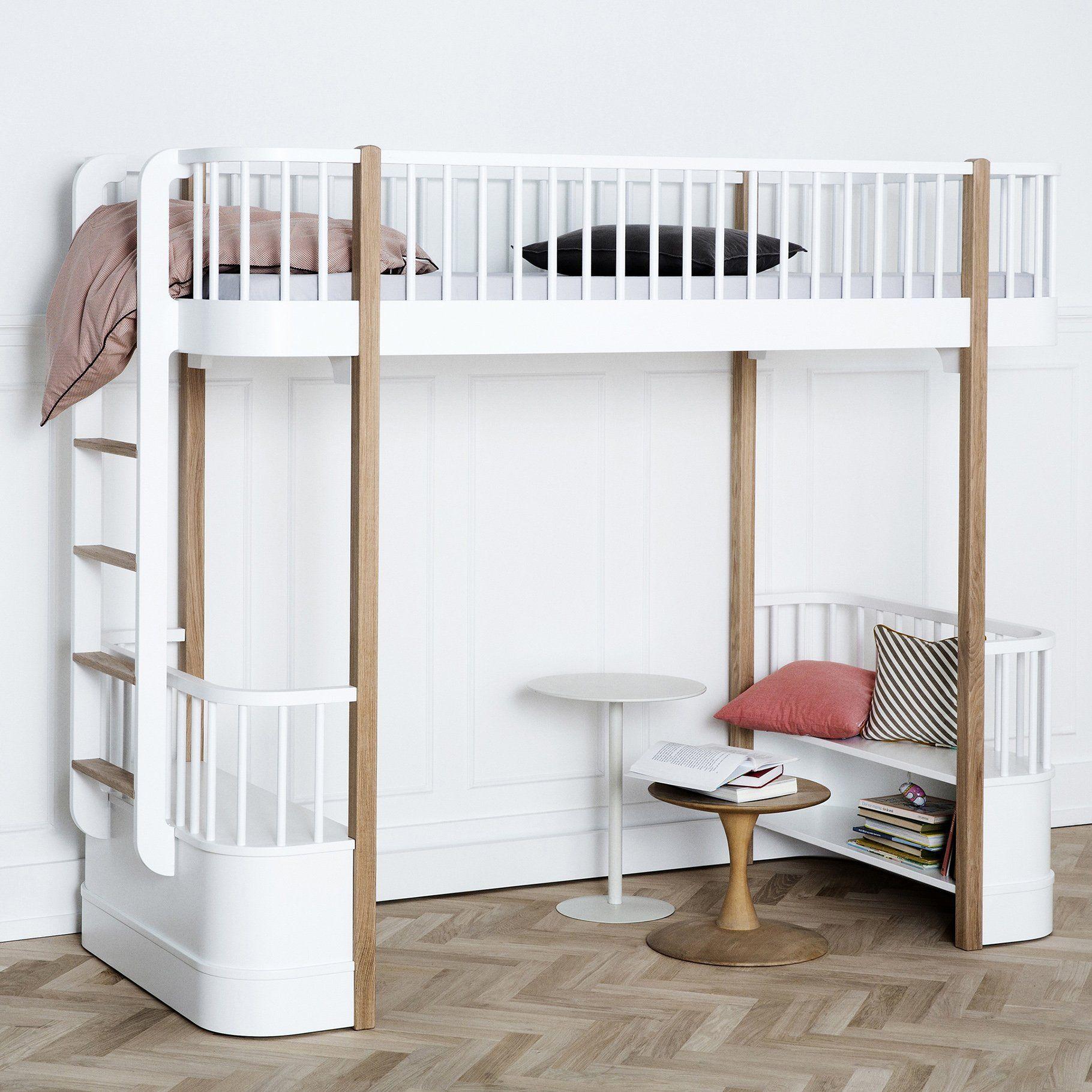 High loft bed  Deco  Pinterest  Lofts and Bedrooms