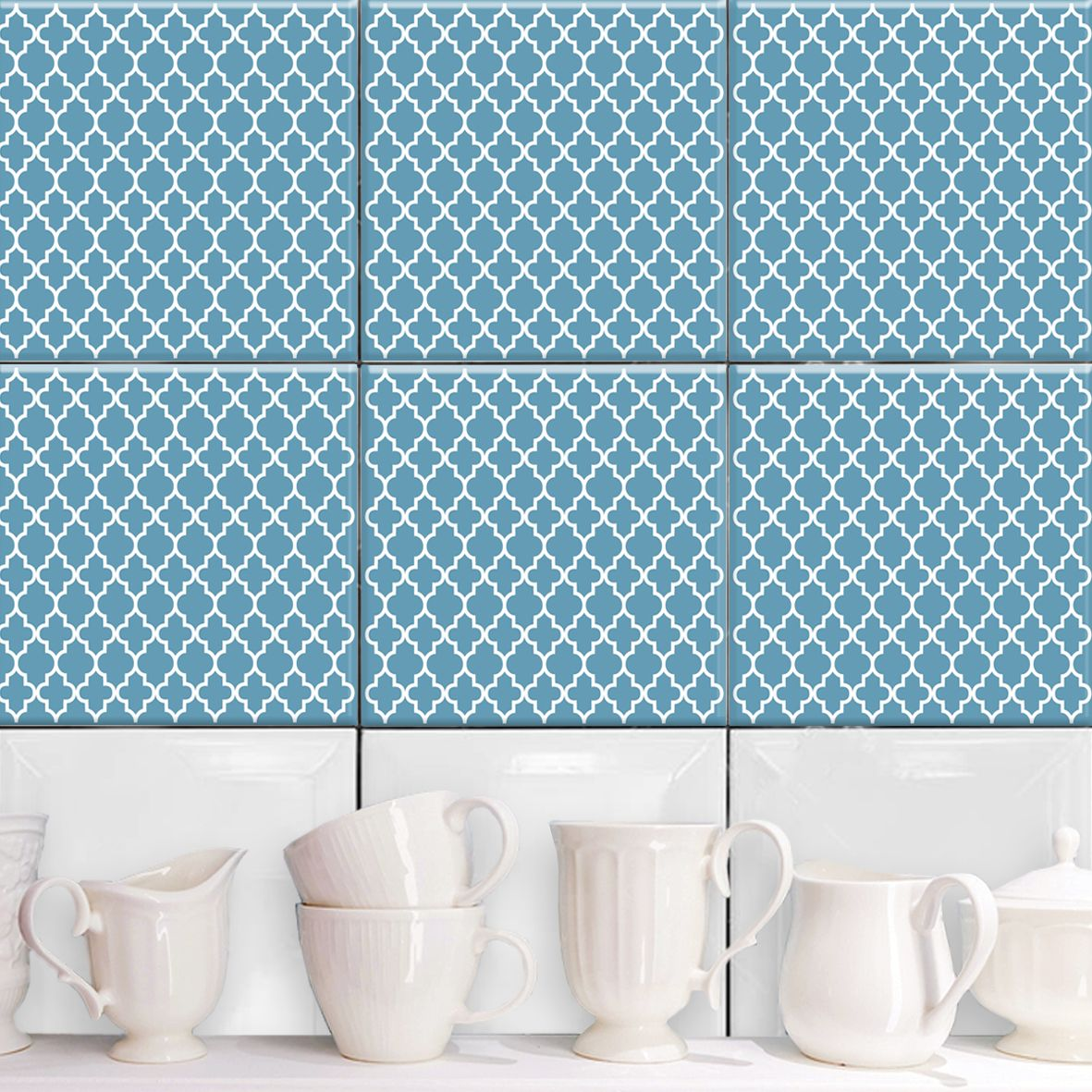 Marrakesh Blau - Fliesenaufkleber Set