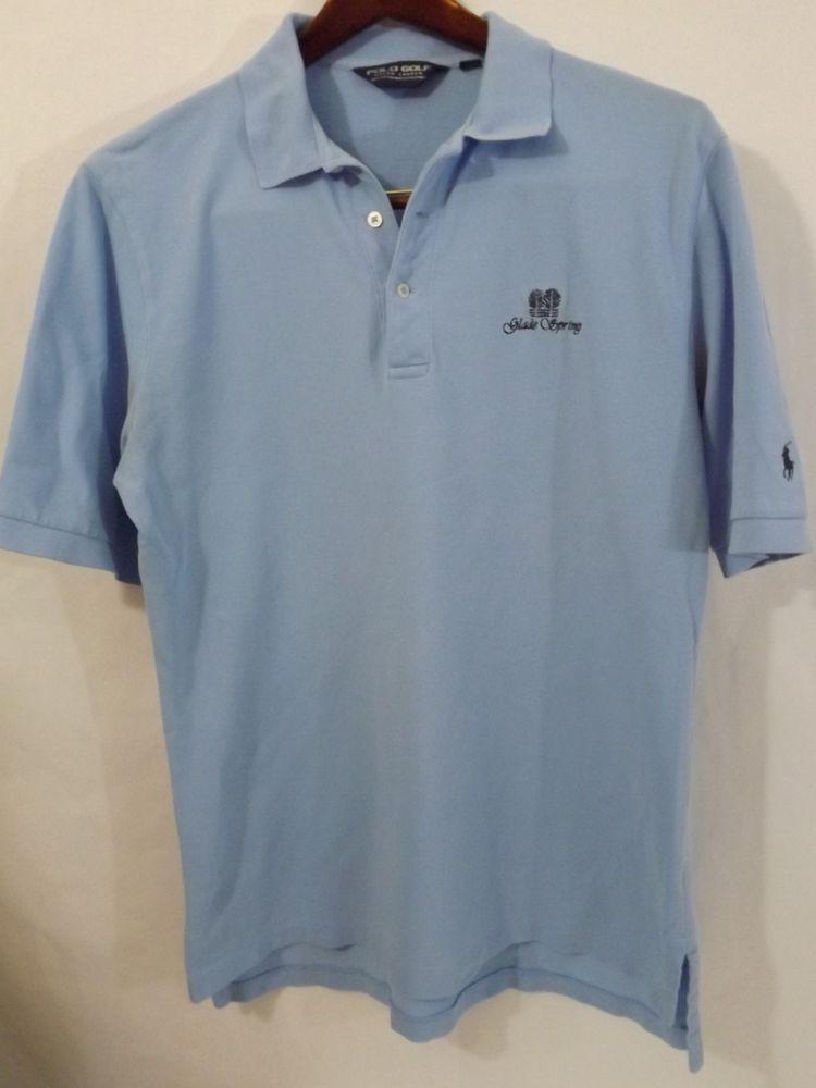 19636372b84b EUC Men's POLO GOLF Ralph Lauren L Light Blue Cotton Glade Springs WV CC  Polo
